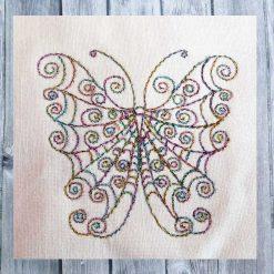 Stickdatei Doodle Schmetterlin