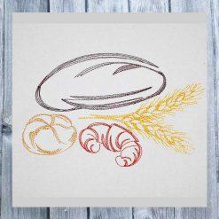 Stickdatei Brot Croissant 1318