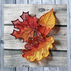 Stickdatei Lace HerbstlaubSet