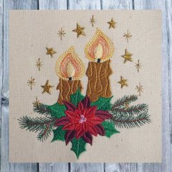 Stickdatei Adventsgesteck 1318