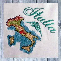Stickdesign Italien Karte 1010