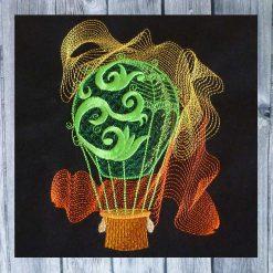 Stickdesign Heissluftballon 1318
