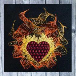 Stickdatei Herz in Flammen 1010