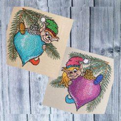 Stickdatei Weihnachtselfen Set 1010