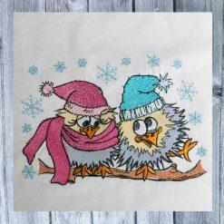 Stickdesign Winter Liebe 1318