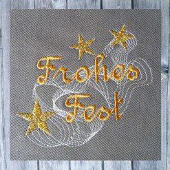 Stickdatei Frohes Fest Freebie