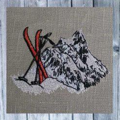 Stickdatei Ski Berge 1010