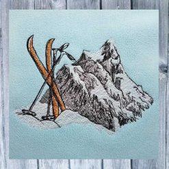 Stickdatei Ski Berge 13x18
