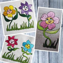 Stickdatei Happy Blumen Set